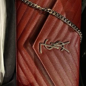 Ysl Large Wallet On A Chain